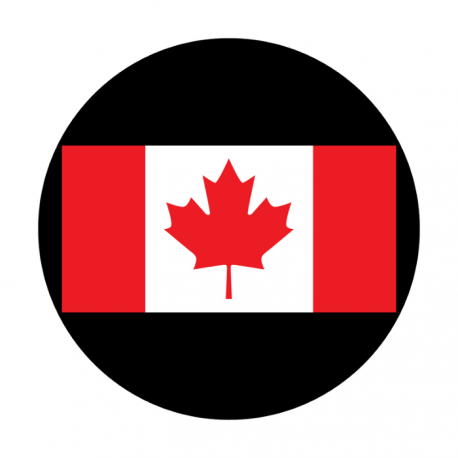Apollo Printscenic Plastic Gobo C21116 Canadian Flag Stage