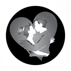 Apollo SuperRes Glass Gobo 1122 Kissing Couple