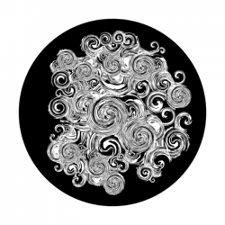 Apollo SuperRes Glass Gobo 1231 Overflowing Swirls