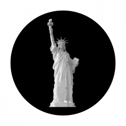 Apollo SuperRes Glass Gobo 2126 Ms. Liberty Statue