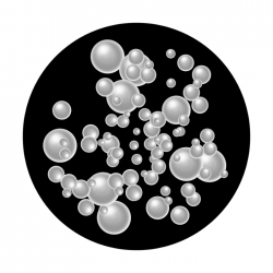 Apollo SuperRes Glass Gobo 2141 Floating Bubbles