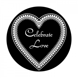 Apollo SuperRes Glass Gobo 6044 Celebrate Love