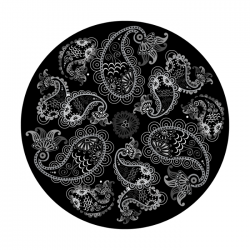 Apollo SuperRes Glass Gobo 6117 Lazy Paisley