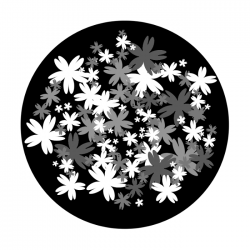 Apollo SuperRes Glass Gobo 6133 Bed Of Flowers