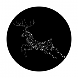 Apollo SuperRes Glass Gobo 6171 Twinkling Reindeer