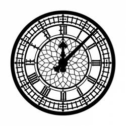 Apollo SRDS Glass Gobo 8001 S. Willey - Big Ben Clock