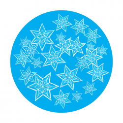 Apollo 1 Color Glass Gobo 0012 Crystal Star Group