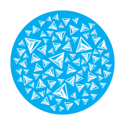 Apollo 1 Color Glass Gobo 0069 Triangles Floating - Blue