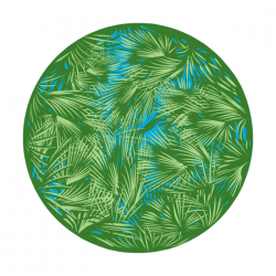 Apollo 2 Color Glass Gobo 0025 Breakup Palm Leaves