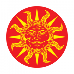 Apollo 2 Color Glass Gobo 0048 Sun Man