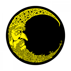 Apollo 2 Color Glass Gobo 0049 Moon Man