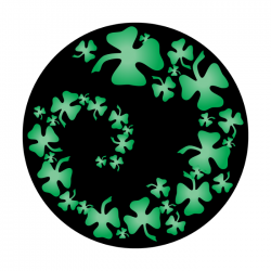 Apollo 2 Color Glass Gobo 0070 Shamrock Swirl