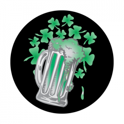 Apollo 2 Color Glass Gobo 0071 Shamrock Beer