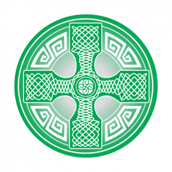 Apollo 2 Color Glass Gobo 0074 Irish Cross