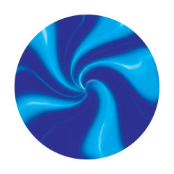 Apollo 2 Color Glass Gobo 0099 Blue swirl
