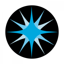 Apollo 2 Color Glass Gobo 0102 Blue Star