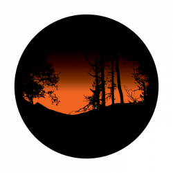 Apollo 2 Color Glass Gobo 0139 Sunset View