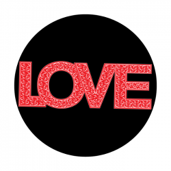 Apollo 2 Color Glass Gobo 0155 Love