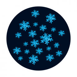 Apollo 2 Color Glass Gobo 1000 Winter Snowfall