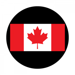 Apollo 2 Color Glass Gobo 1116 Canadian Flag