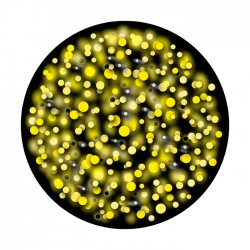 Apollo 2 Color Glass Gobo 1126 Glowing dots