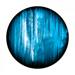 Apollo 2 Color Glass Gobo 1127 Heavy Icicle Covering