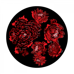 Apollo 2 Color Glass Gobo 1172 Roses Are Red