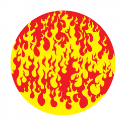 Apollo 2 Color Glass Gobo 0052 Flames Hot