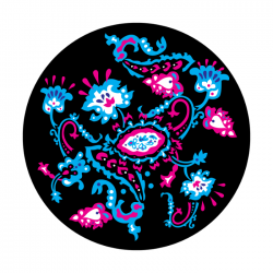 Apollo ColourScenic Glass Gobo 0003 Paisley