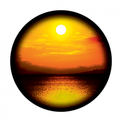 Apollo ColourScenic Glass Gobo 0007 Vacation Sunset
