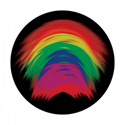 Apollo ColourScenic Glass Gobo 0017 Brushed Rainbow