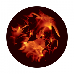 Apollo ColourScenic Glass Gobo 0020 Fiery Furnace
