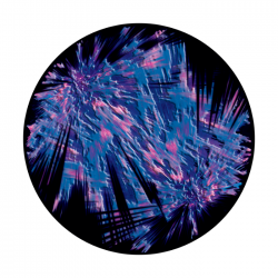 Apollo ColourScenic Glass Gobo 0025 Liquid Fireworks