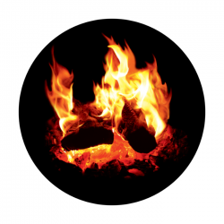 Apollo ColourScenic Glass Gobo 0030 Burning Logs