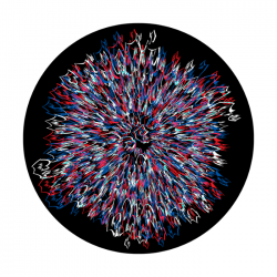 Apollo ColourScenic Glass Gobo 0037 Patriotic Shock