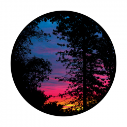 Apollo ColourScenic Glass Gobo 0039 Romantic Evening