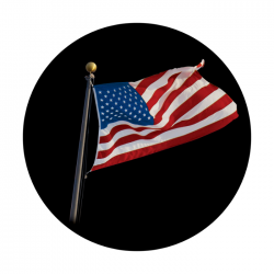 Apollo ColourScenic Glass Gobo 0045 U.S. Waving Flag