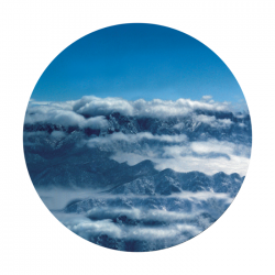 Apollo ColourScenic Glass Gobo 0062 Mountains Clouds