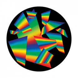 Apollo ColourScenic Glass Gobo 0113 Rainbow Chips
