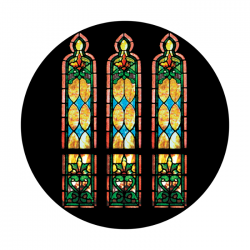 Apollo ColourScenic Glass Gobo 0115 Stained Glass Windows Morning