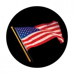 Apollo ColourScenic Glass Gobo 0117 American Flag Waving