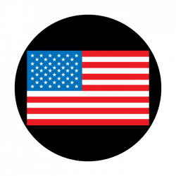 Apollo ColourScenic Glass Gobo 0119 American Flag