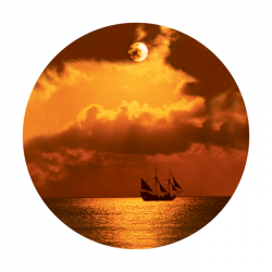 Apollo ColourScenic Glass Gobo 0120 Boat at Sunset