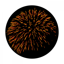 Apollo ColourScenic Glass Gobo 0133 Large Firework