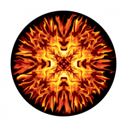Apollo ColourScenic Glass Gobo 0134 Fire Gods