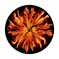Apollo ColourScenic Glass Gobo 0135 Spiral Fire