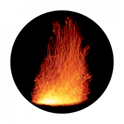 Apollo ColourScenic Glass Gobo 0137 Fire Blast