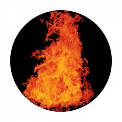 Apollo ColourScenic Glass Gobo 0138 Bonfire