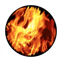 Apollo ColourScenic Glass Gobo 0139 Bright Fire Up Close