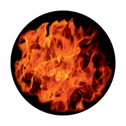 Apollo ColourScenic Glass Gobo 0162 Flaming Hot
